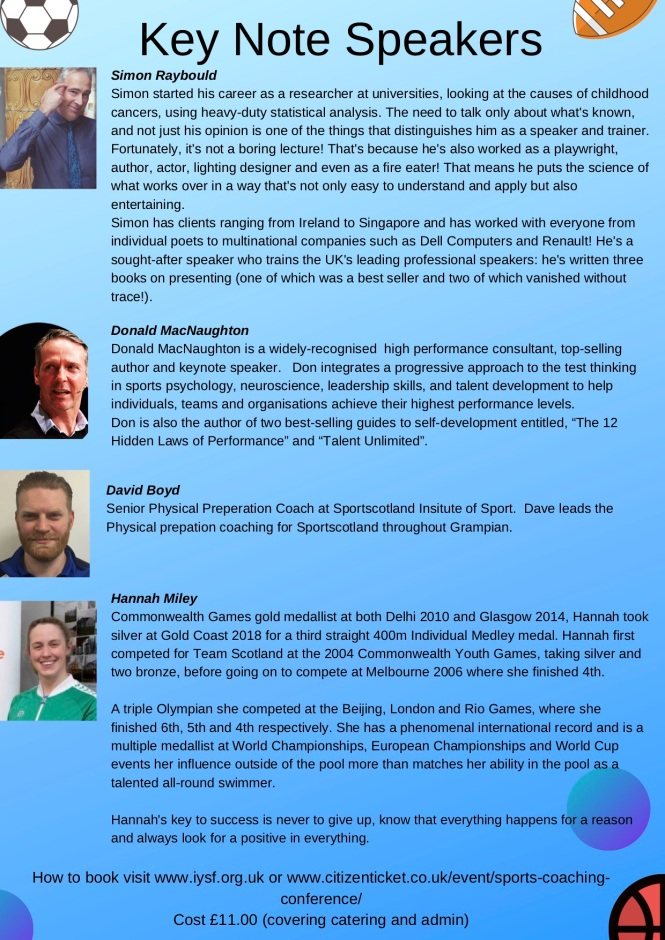 IYSF Sports Coaching Conference 2019-2